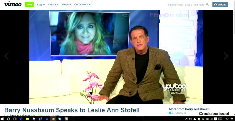 Leslie of Real Clear Israel - America Trends Media Appearance